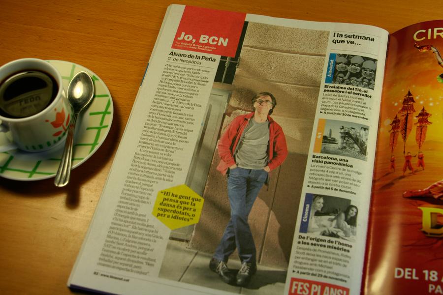Álvaro de la Peña. Jo, BCN. TimeOut. Entrevista/perfil a la revista TimeOut BCN. Per Begoña García Carteron | Fotografia Irene Fernández