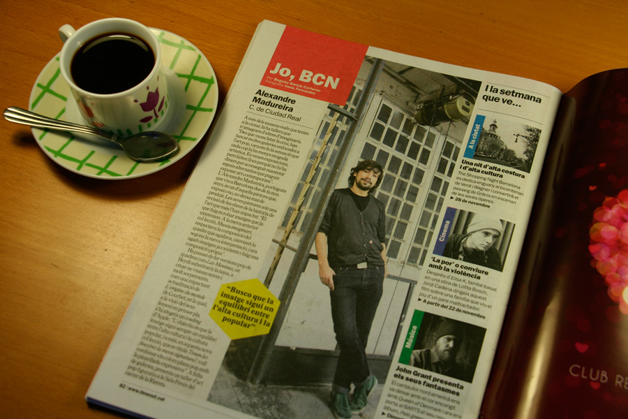 Alexandre Madureira. Jo, BCN. TimeOut. Entrevista/perfil a la revista TimeOut BCN. Per Begoña García Carteron | Fotografia Irene Fernández