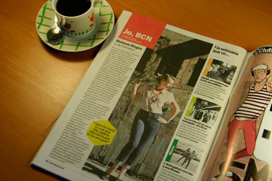 Stefanie Ringes. Jo, BCN. TimeOut. Entrevista/perfil a la revista TimeOut BCN. Per Begoña García Carteron | Fotografia Irene Fernández