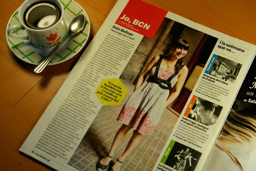 Dolo Beltran. Jo, BCN. TimeOut. Entrevista/perfil a la revista TimeOut BCN. Per Begoña García Carteron | Fotografia Scott Chasserot. 5 de Stembre 2012
