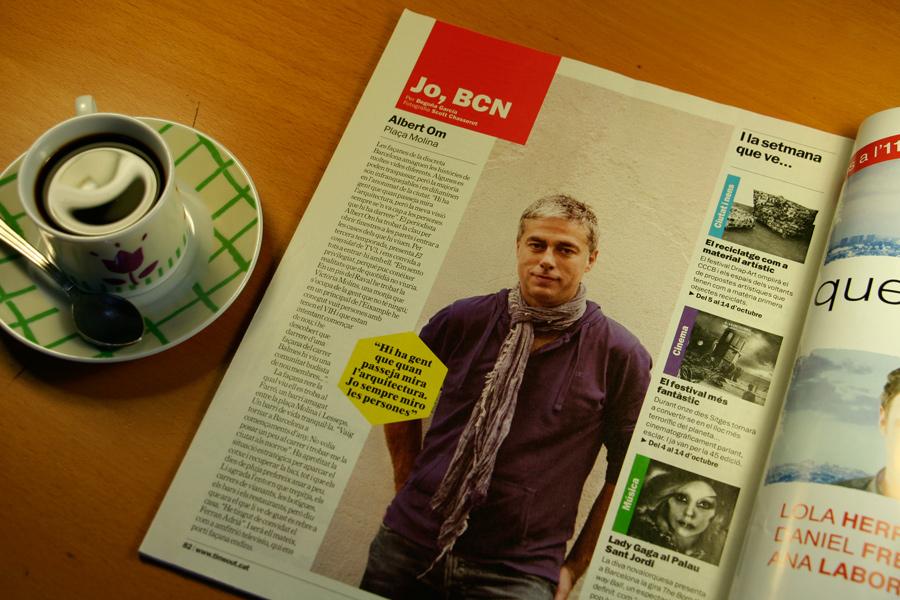 Albert Om. Jo, BCN. TimeOut. Entrevista/perfil a la revista TimeOut BCN. Per Begoña García Carteron | Fotografia Scott Chasserot. 3 d'Octubre 2012