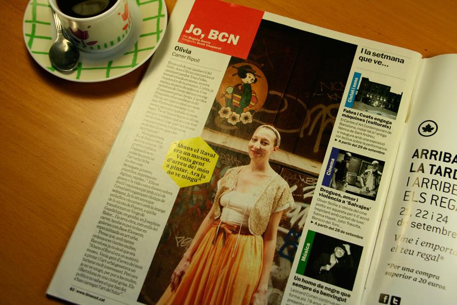 Olivia. Jo, BCN. TimeOut. Entrevista/perfil a la revista TimeOut BCN. Per Begoña García Carteron | Fotografia Scott Chasserot 26 de Setembre 2012