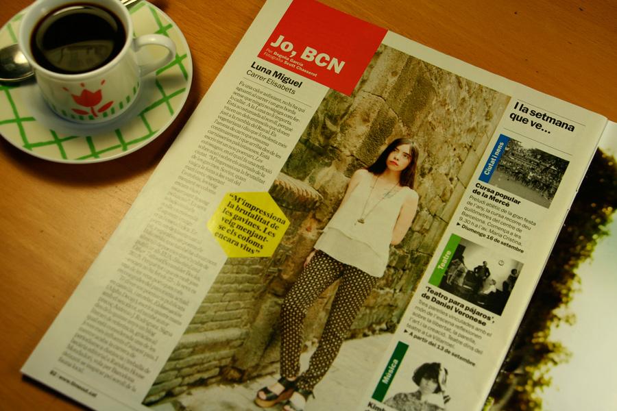 Luna Miguel. Jo, BCN. TimeOut. Entrevista/perfil a la revista TimeOut BCN. Per Begoña García Carteron | Fotografia Scott Chasserot