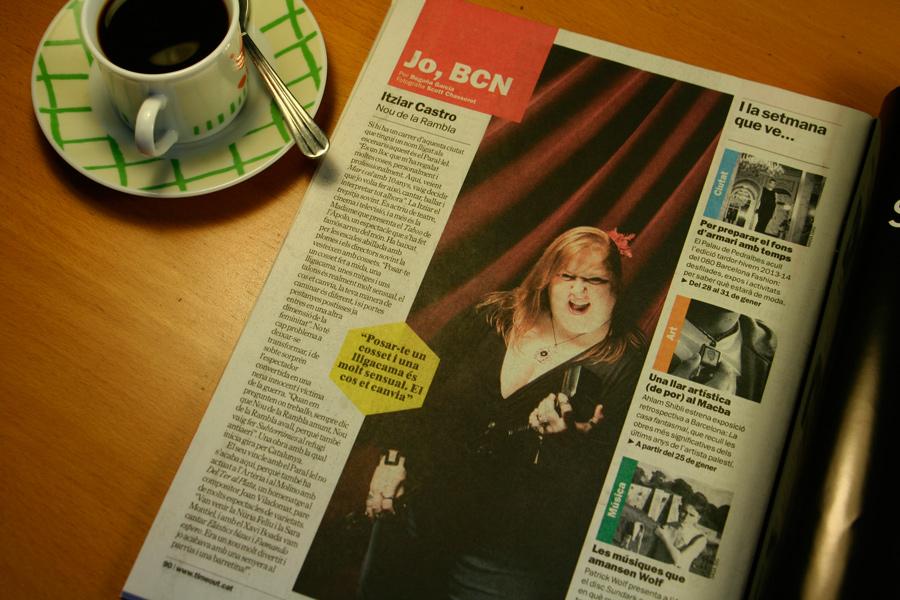 Itziar Castro. Jo, BCN. TimeOut. Entrevista/perfil a la revista TimeOut BCN. Per Begoña García Carteron | Fotografia Scott Chasserot. 23 de Gener 2013