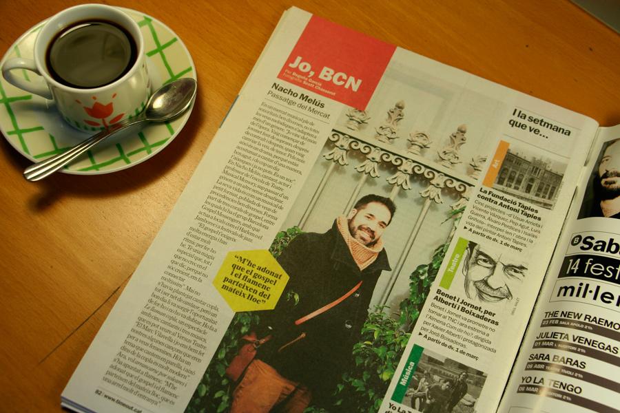 Nacho Melús. Jo, BCN. TimeOut. Entrevista/perfil a la revista TimeOut BCN. Per Begoña García Carteron | Fotografia Scott Chasserot. 27 de Febrer 2013