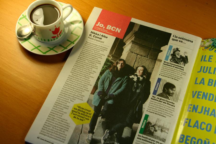 Nikka i Alba G. Corral. Jo, BCN. TimeOut. Entrevista/perfil a la revista TimeOut BCN. Per Begoña García Carteron | Fotografia Scott Chasserot. 6 de Febrer 2013