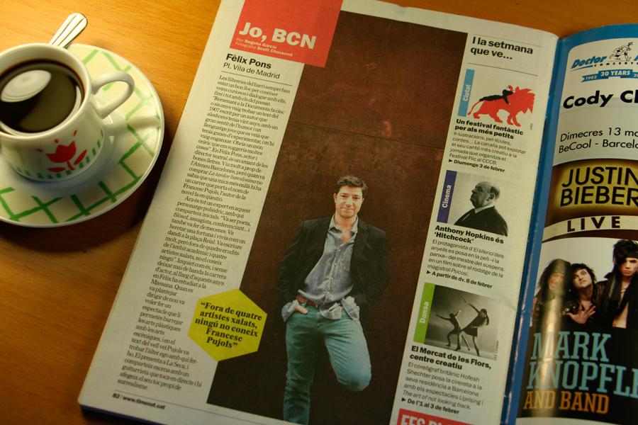 Fèlix Pons. Jo, BCN. TimeOut. Entrevista/perfil a la revista TimeOut BCN. Per Begoña García Carteron | Fotografia www.scottchasserot.com | 30 de Gener 2013