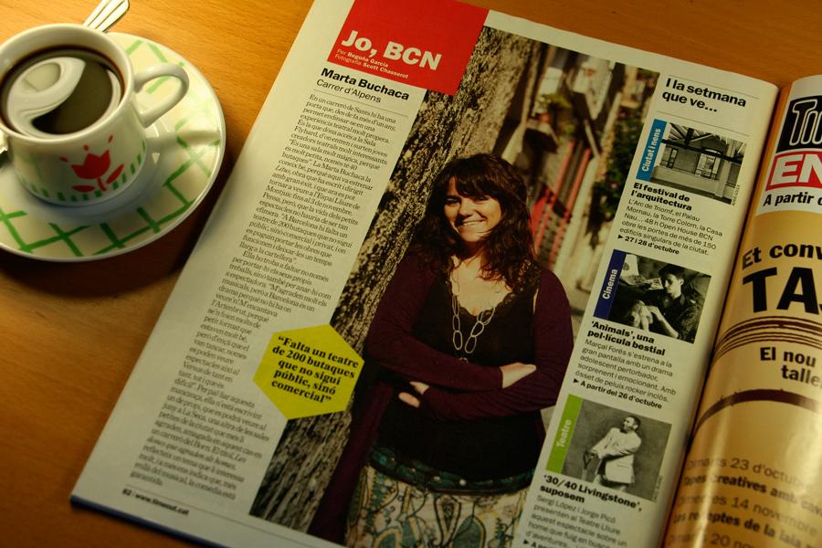 Marta Buchaca. Jo, BCN. TimeOut. Entrevista/perfil a la revista TimeOut BCN. Per Begoña García Carteron   Fotografia Scott Chasserot