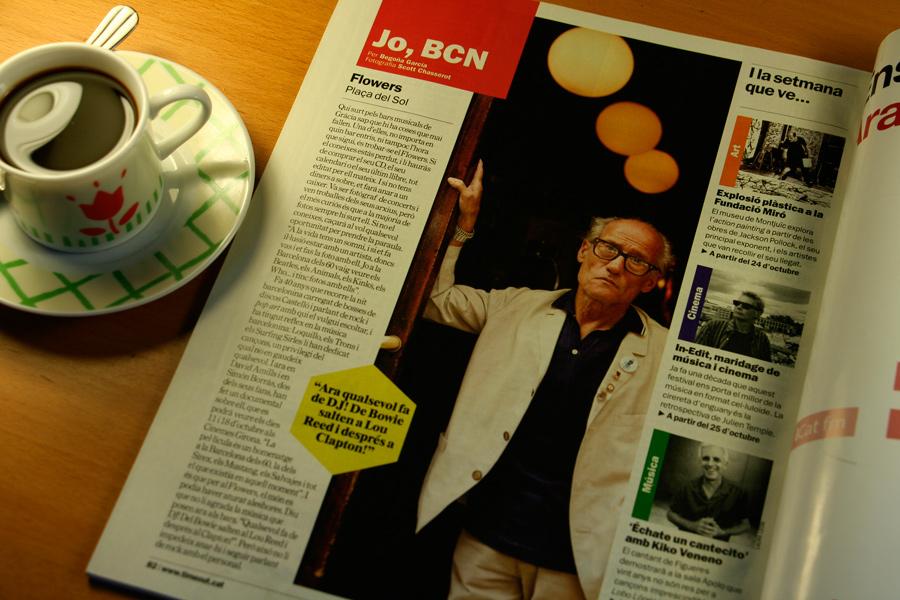 Flowers. Jo, BCN. TimeOut. Entrevista/perfil a la revista TimeOut BCN. Per Begoña García Carteron | Fotografia Scott Chasserot