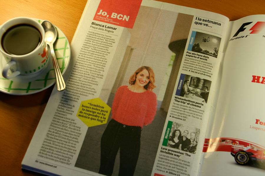 Blanca Lamar. Jo, BCN. TimeOut. Entrevista/perfil a la revista TimeOut BCN. Per Begoña García Carteron | Fotografia Scott Chasserot. 8 de Maig 2013