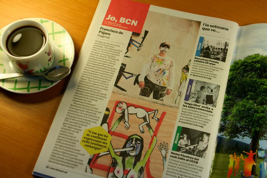 Francisco de Pájaro. Jo, BCN. TimeOut. Entrevista/perfil a la revista TimeOut BCN.
