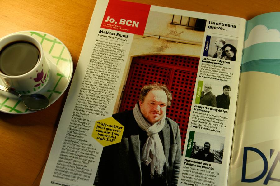 Mathias Enard. Jo, BCN. TimeOut. Entrevista/perfil a la revista TimeOut BCN. Per Begoña García Carteron | Fotografia Scott Chasserot. 24 d'Abril 2013