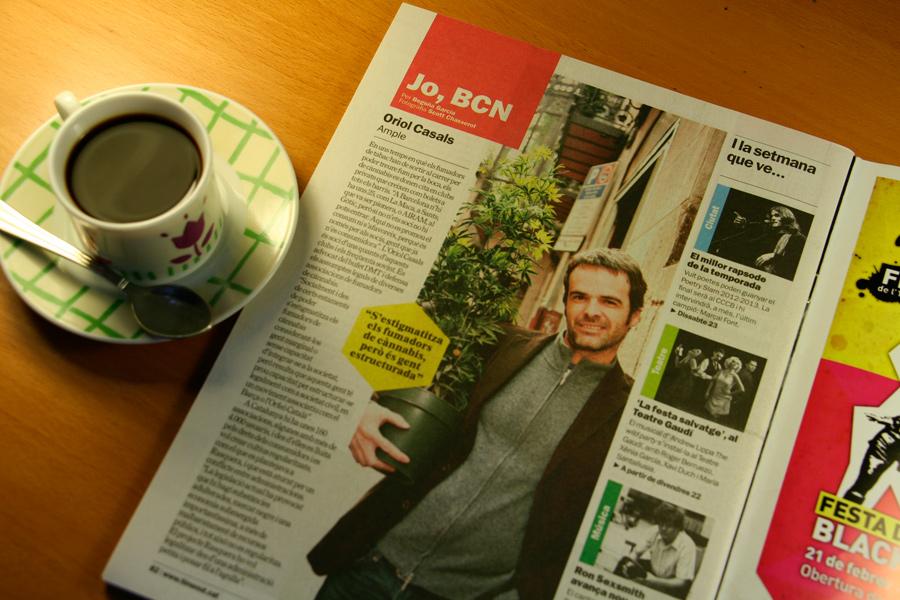 Oriol Casals. Jo, BCN. TimeOut. Entrevista/perfil a la revista TimeOut BCN. Per Begoña García Carteron | Fotografia Scott Chasserot. 20 de Feberer 2013