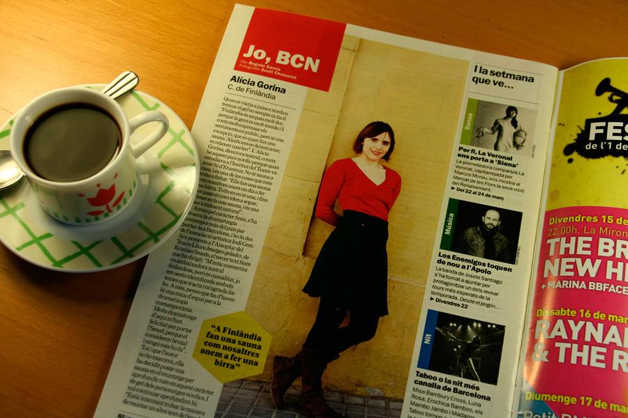 Alícia Gorina. Jo, BCN. TimeOut. Entrevista/perfil a la revista TimeOut BCN. Per Begoña García Carteron | Fotografia Scott Chasserot. 20 de Març 2013