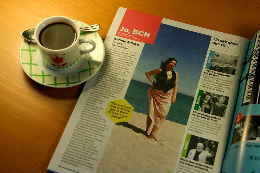 Karime Amaya. Jo, BCN. TimeOut. Entrevista/perfil a la revista TimeOut BCN. Per Begoña García Carteron | Fotografia Scott Chasserot. 5 de Juny 2013