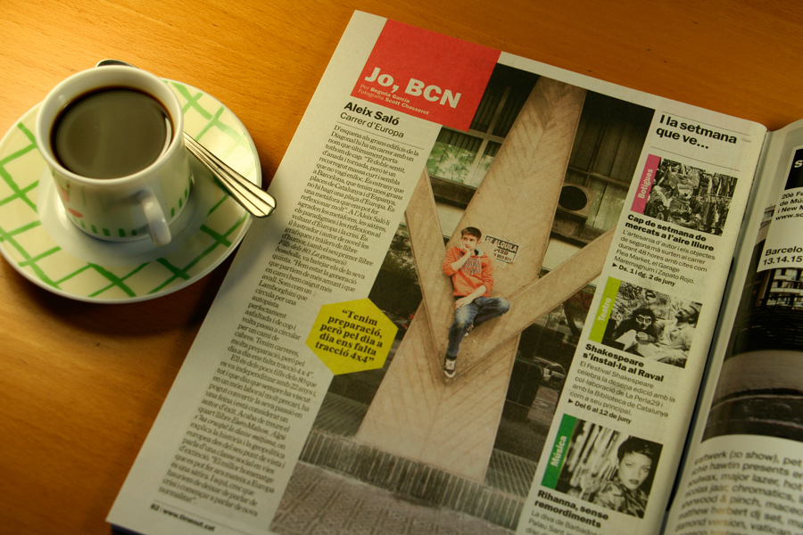 Aleix Saló. Jo, BCN. TimeOut. Entrevista/perfil a la revista TimeOut BCN. Per Begoña García Carteron | Fotografia Scott Chasserot. 29 de Maig 2013