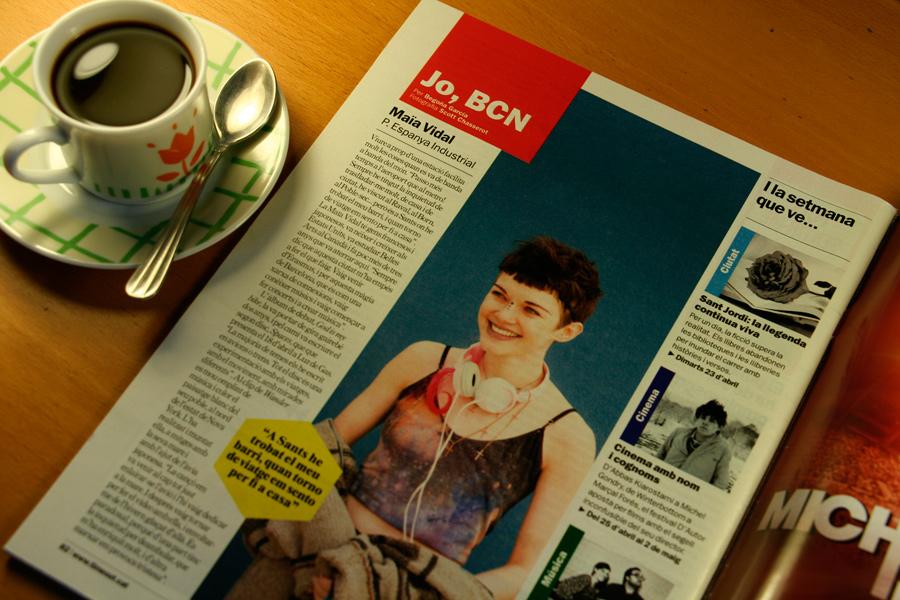 Maïa Vidal. Jo, BCN. TimeOut. Entrevista/perfil a la revista TimeOut BCN. Per Begoña García Carteron | Fotografia Scott Chasserot. 17 d'Abril 2013