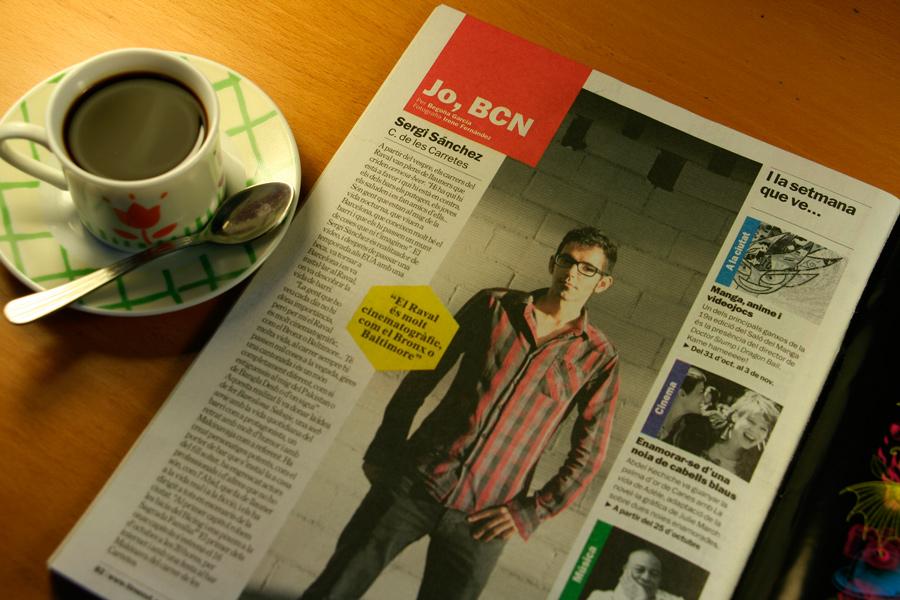 Sergi Sánchez. Jo, BCN. TimeOut. Entrevista/perfil a la revista TimeOut BCN. Per Begoña García Carteron   Fotografia Irene Fernández. 23 d'Octubre 2013