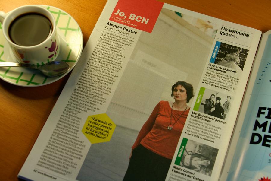Montse Costas. Jo, BCN. TimeOut. Entrevista/perfil a la revista TimeOut BCN. Per Begoña García Carteron | Fotografia Irene Fernández. 6 de Novembre 2013