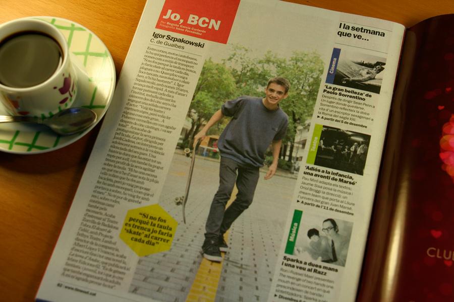 Igor Szpakowski. Jo, BCN. TimeOut. Entrevista/perfil a la revista TimeOut BCN. Per Begoña García Carteron | Fotografia Irene Fernández. 4 de Desembre 2013