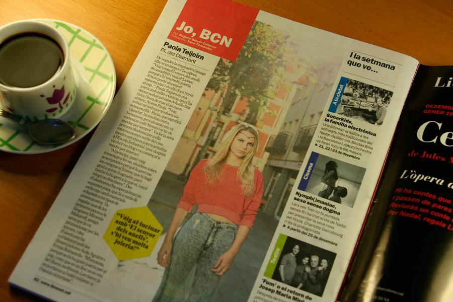 Paola Teijeira. Jo, BCN. TimeOut. Entrevista/perfil a la revista TimeOut BCN