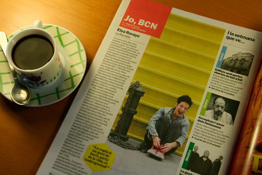 Elsa Rovayo. Jo, BCN. TimeOut. Entrevista/perfil a la revista TimeOut BCN. Per Begoña García Carteron | Fotografia Irene Fernández. 16 d'Octubre 2013