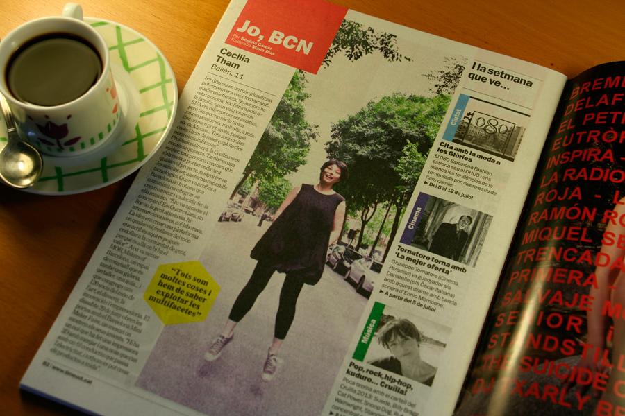 Cecilia Tham. Jo, BCN. TimeOut. Entrevista/perfil a la revista TimeOut BCN. Per Begoña García Carteron | Fotografia Maria Dias. 3 de Juliol 2013