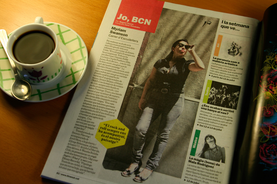 Myriam Swanson. Jo, BCN. TimeOut. Entrevista/perfil a la revista TimeOut BCN