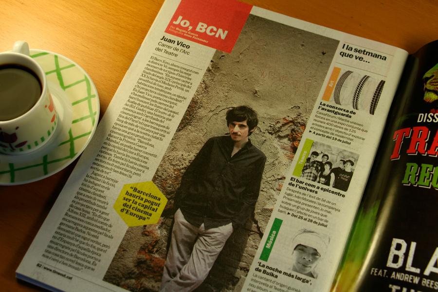 Juan Vico. Jo, BCN. TimeOut. Entrevista/perfil a la revista TimeOut BCN.