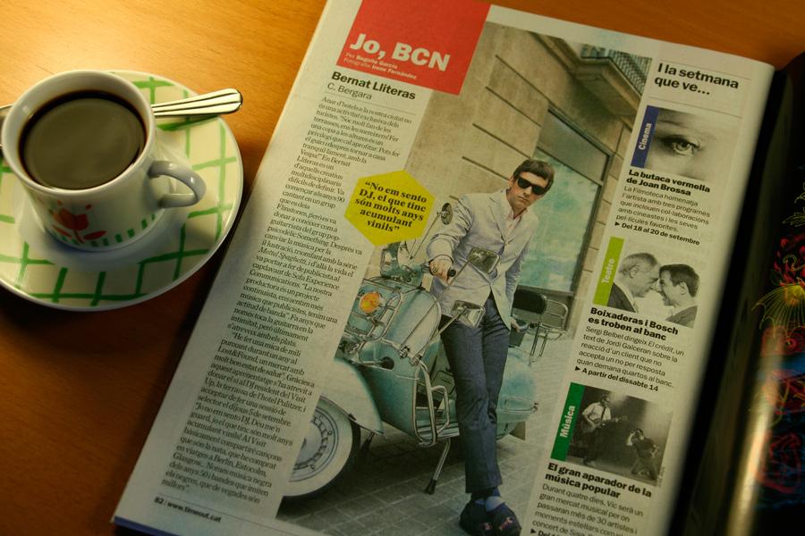 Bernat Lliteras. Jo, BCN. TimeOut. Entrevista/perfil a la revista TimeOut BCN. Per Begoña García Carteron | Fotografia Irene Fernández. 11 Septembre 2013