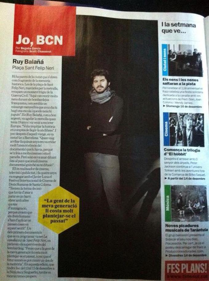 Ruy Balañá - Jo, BCN. TimeOut. Entrevista/perfil a la revista TimeOut BCN. Per Begoña García Carteron | Fotografia Scott Chasserot